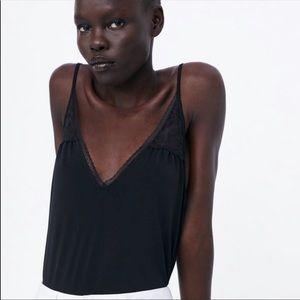 ZARA lace bodysuit NWT
